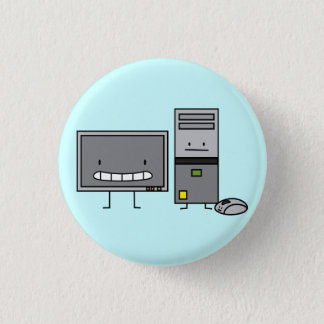 Computer Family IT Screen Mouse PC Tower 1 Inch Round Button
