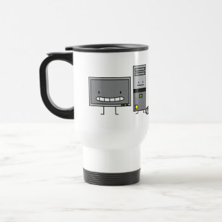 Computer Family IT Screen Mouse PC Tower Travel Mug