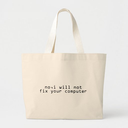 Computer Fixer Jumbo Tote Bag