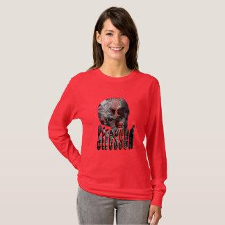 Computer Fried Skull Stressed Logo, T-Shirt