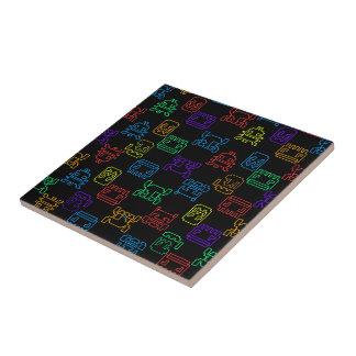 Computer game ceramic tiles