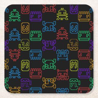 Computer game square paper coaster