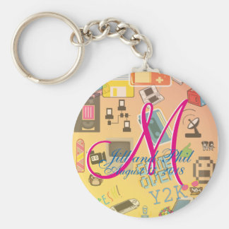 Computer Game Theme Wedding Keychain