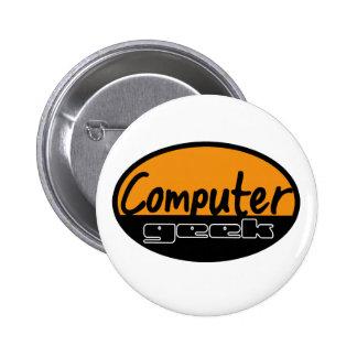 computer geek 2 inch round button