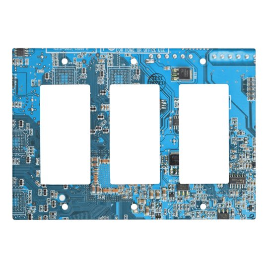 Computer Geek Circuit Board 3 switch cover - blue