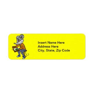 Computer Geek Mouse Return Address Label