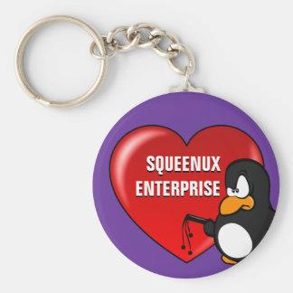 Computer Geek Valentine: Be Secure in Your Love Basic Round Button Keychain