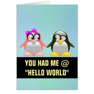 Computer Geek Valentine: Programming Language Love Card