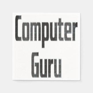 Computer Guru Grey Disposable Napkins
