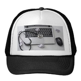 Computer Help Guru Geek Diagnosis Fix Trucker Hat