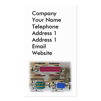 Computer Input Output Ports Double-Sided Standard Business Cards (Pack Of 100)