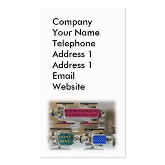 Computer Input Output Ports Business Card