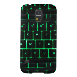 Computer Keyboard qwerty green keys Case For Galaxy S5