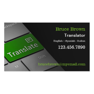 Computer Keyboard Translator Business Card