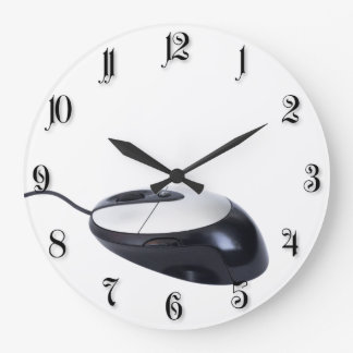 Computer mouse large clock