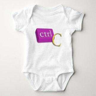 Computer Nerd Twin Baby 1 of 2 (ctrl C) Onsies T-shirt