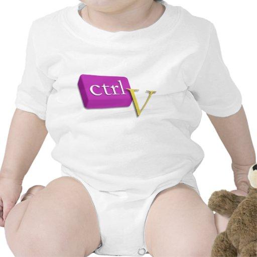 Computer Nerd Twin Baby 2 of 2 (ctrl V) Onsies Shirt