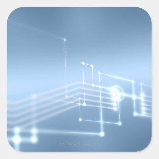Computer network square sticker