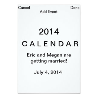Computer page save the date card