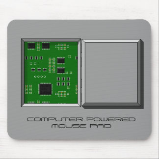 """""""COMPUTER POWERED MOUSE PAD"""" hatch & circuit board Mouse Pad"""
