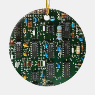 Computer Printed Circuit Board Ceramic Ornament
