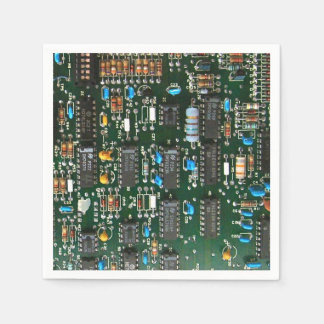 Computer Printed Circuit Board Paper Napkins