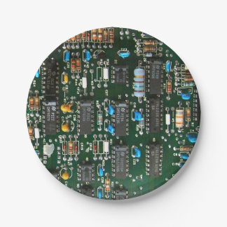 Computer Printed Circuit Board Paper Plate