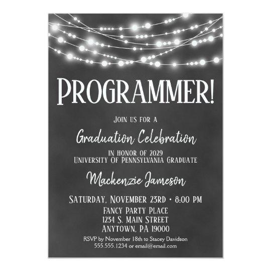Computer programmer graduation party invitation zazzle computer programmer graduation party invitation filmwisefo