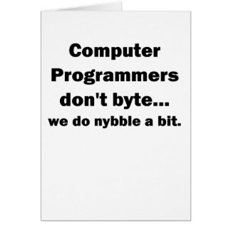 Computer Programmers dont byte.png Greeting Card