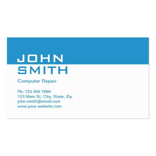Computer Repair Modern Professional Plain Simple Business Card Templates