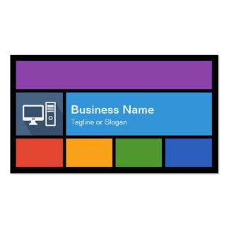 Computer Retailer Repair - Colorful Tiles Creative Business Card