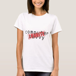 Computer savvy: Luddite rubber stamp T-Shirt