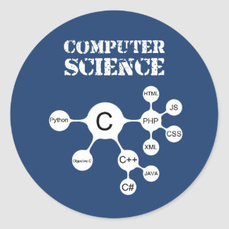 Computer Science Classic Round Sticker