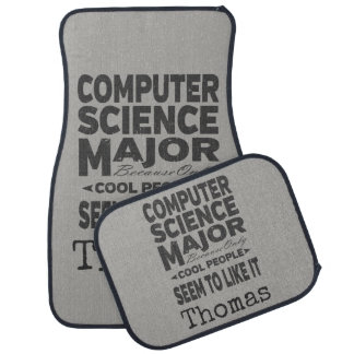 Computer Science College Major Cool People Car Mat