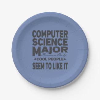 Computer Science College Major Cool People Paper Plate