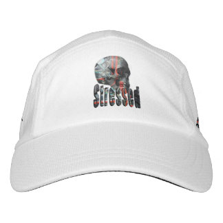 Computer Stressed Skull Head White Performance Cap