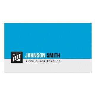 Computer Teacher - Personal Aqua Blue Business Card