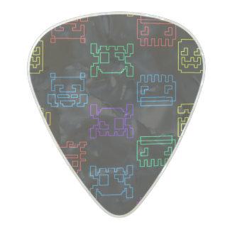 Computer tech pearl celluloid guitar pick