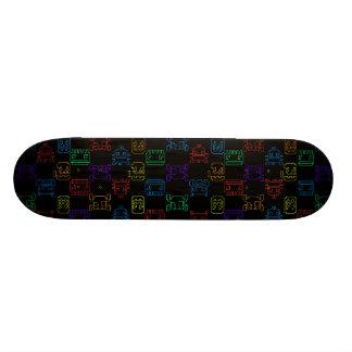 Computer tech skateboard deck