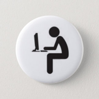 Computer User Icon 2 Inch Round Button