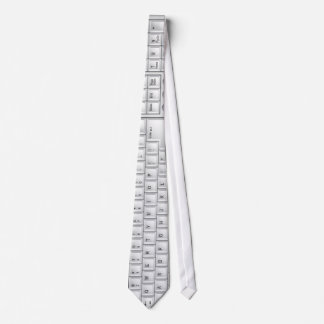 Computer White Keyboard Tie