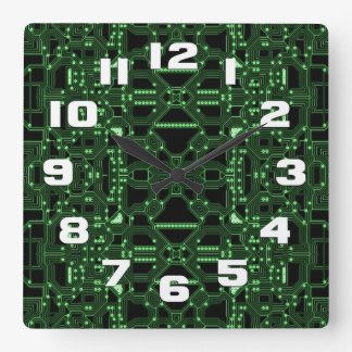 Computerized Square Wall Clock