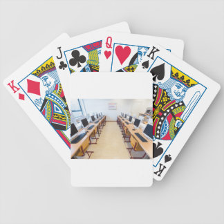 Computers in classroom of dutch education bicycle playing cards