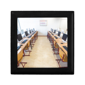 Computers in classroom of dutch education gift box