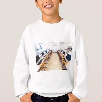 Computers in classroom of dutch education sweatshirt