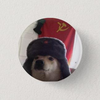 Comrade Doge the Communist Doggo Pupper 1 Inch Round Button