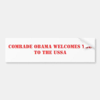Comrade Obama welcomes you to the USSA Bumper Sticker