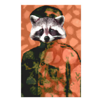 Comrade raccoon personalized stationery