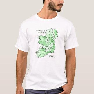Comtés de T-shirts de carte de l'Irlande