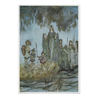 """Comus: """"Sabrina rises, attended by water-nymphs"""" Poster"""
